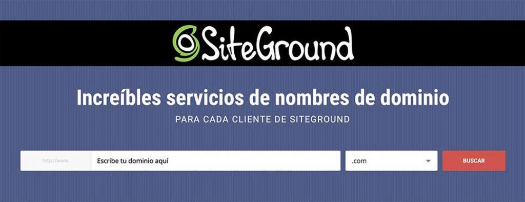 Nombre de dominio de  empresas en Siteground