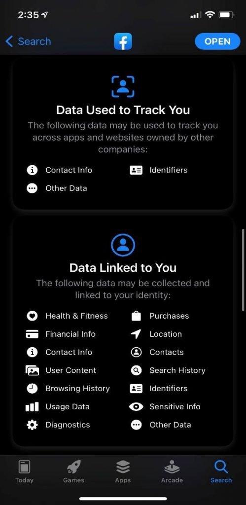 la actualización de privacidad te da opciones de compartir o no datos
