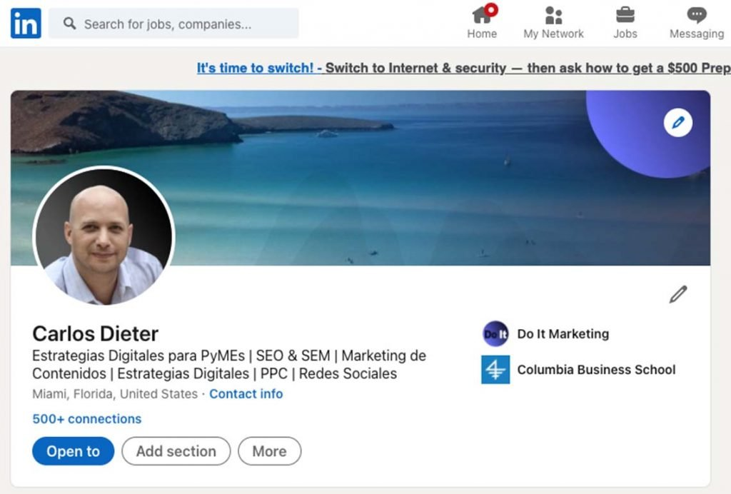 Tu perfil en linkedIn es parte de las estrategias B2B