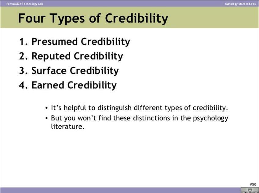 4 tipos de credibilidad